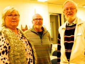 Ylva Amberntsson, ordförande DIS-Väst Hans-Erik Englund, ordförande Släktdata Jonny Holm, DIS-Väst
